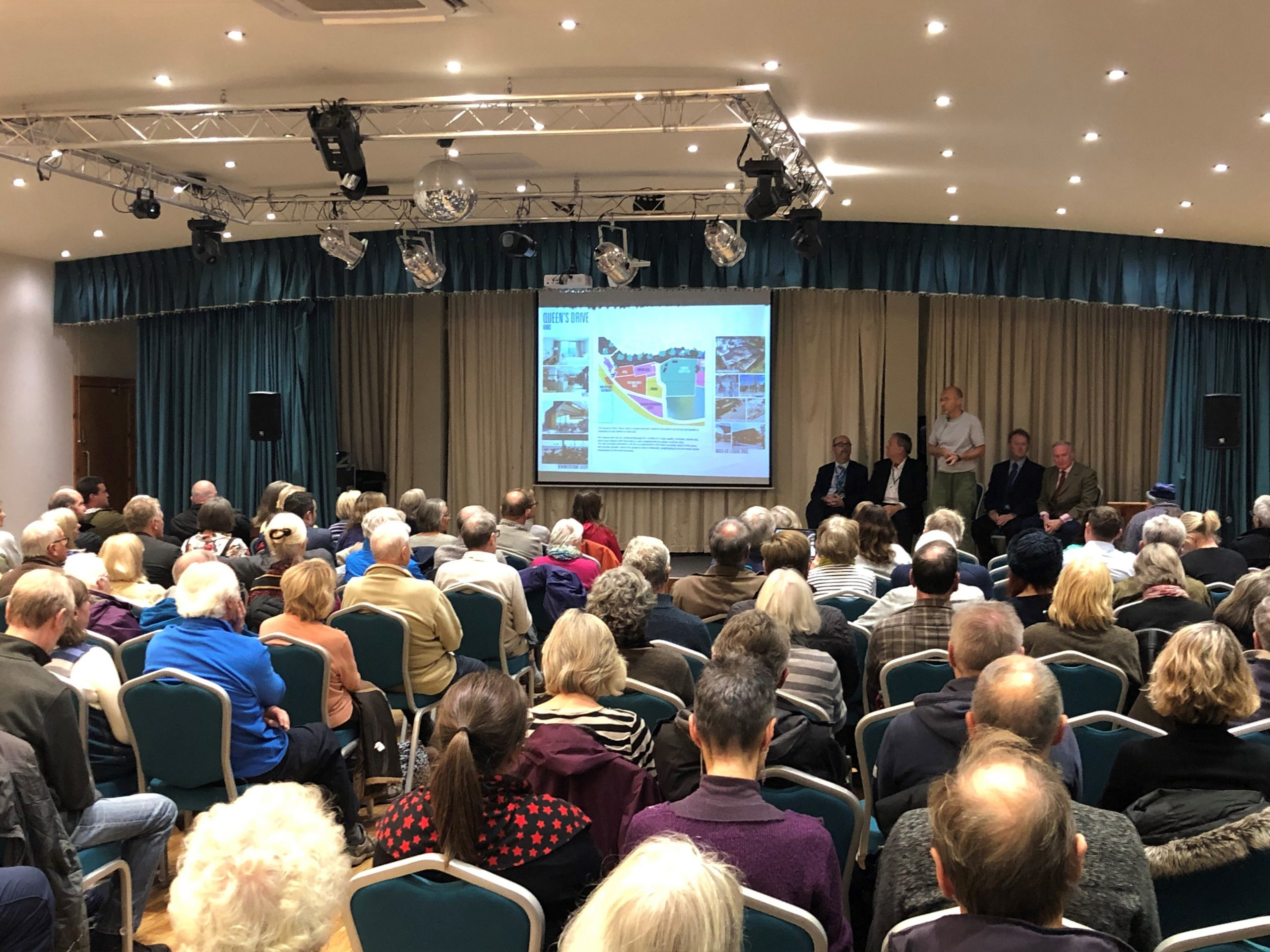 The presentation at the Ocean Suite in Exmouth was packed.