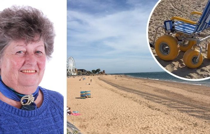 Town councillor Pauline Stott is campaigning to bring beach wheelchairs to Exmouth.