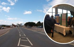 The Exmouth exhibition focussed on the future of Queen's Drive