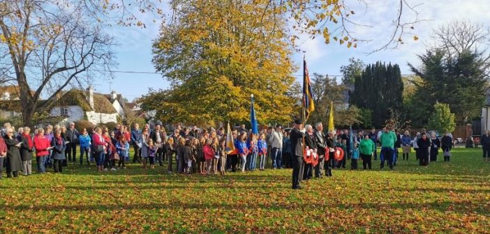 Woodbury comes together to honour its war dead on Remembrance Sunday and Armistice Day