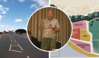 Design guru Wayne Hemingway spoke on the future of Exmouth seafront.