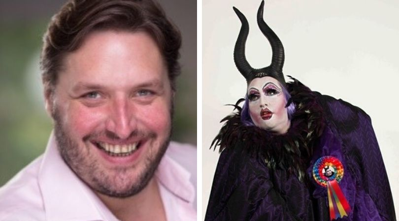 Daniel Page and his theatrical alter-ego, pantomime dame Dame Belladone - is standing as an Independent parliamentary candidate for Exeter in the general election.