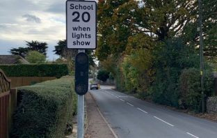 Sidmouth Signs and 'wig-wag' lights have been installed in Sidford Road and Vicarage Road.