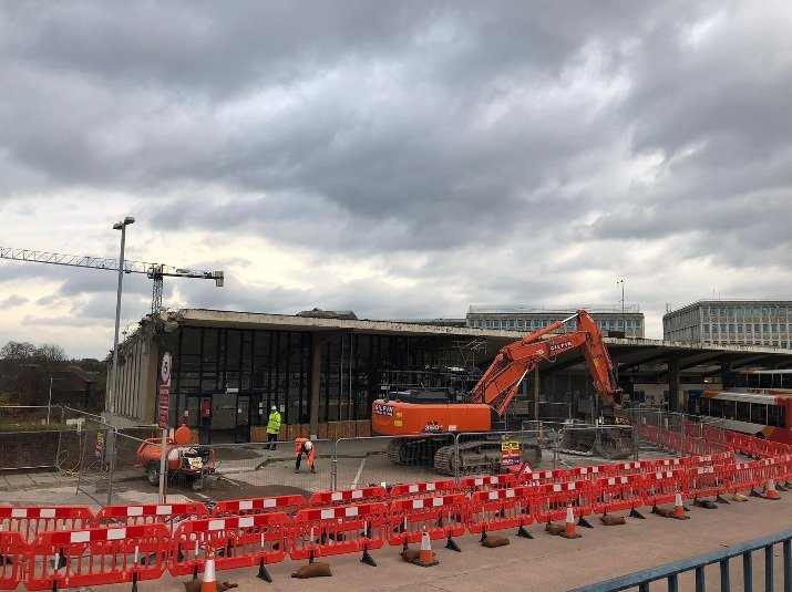 The old Exeter Bus Station  was knocked down to make way for the new development.