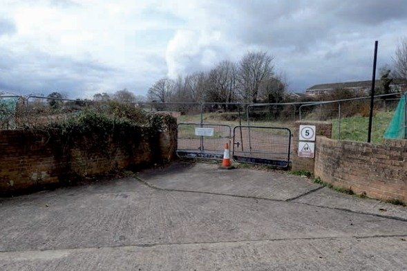 The current site in Ringswell Avenue, Exeter.