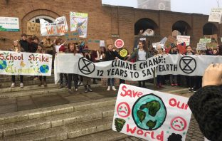 School, college and university students ditched the classroom earlier this year to congregate at Devon County Hall to take part in the first UK-wide education strike over climate change.