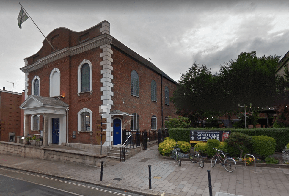 George's Meeting House in South Street, Exeter. Image: Google Maps