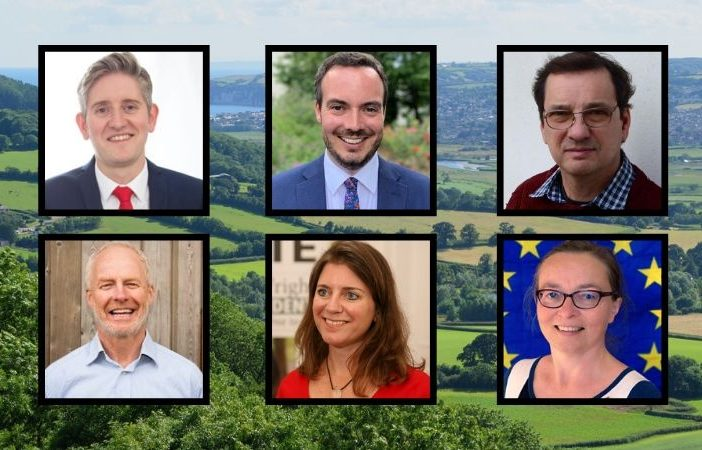 East Devon general election candidates.