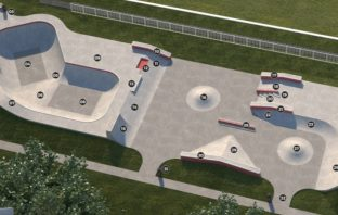 An artist's impression of the new Manstone skate park in Sidmouth. Picture: Sidmouth Town Council/Maverick