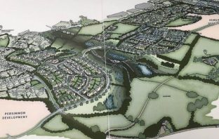 An artist's impression of the Axminster Crown Estate redevelopment proposals from the planning application.