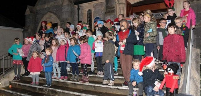 Festive thanks from St Peter's Primary School for show of support at Budleigh's late-night shopping