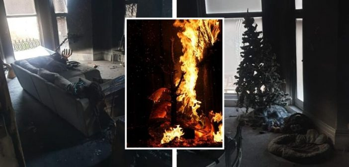 PHOTOS: Fire service explains how quickly one candle can ruin your Christmas