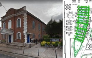Plans for George's Meeting House in South Street, Exeter, have been approved. Main image: Google Maps