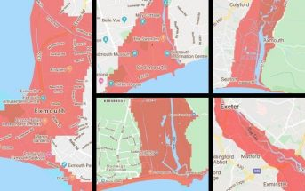 Climate Central has produced an interactive map predicting how communities could be hit by rising sea levels. It predicts huge swathes of East Devon and Exeter could be under water by 2050.