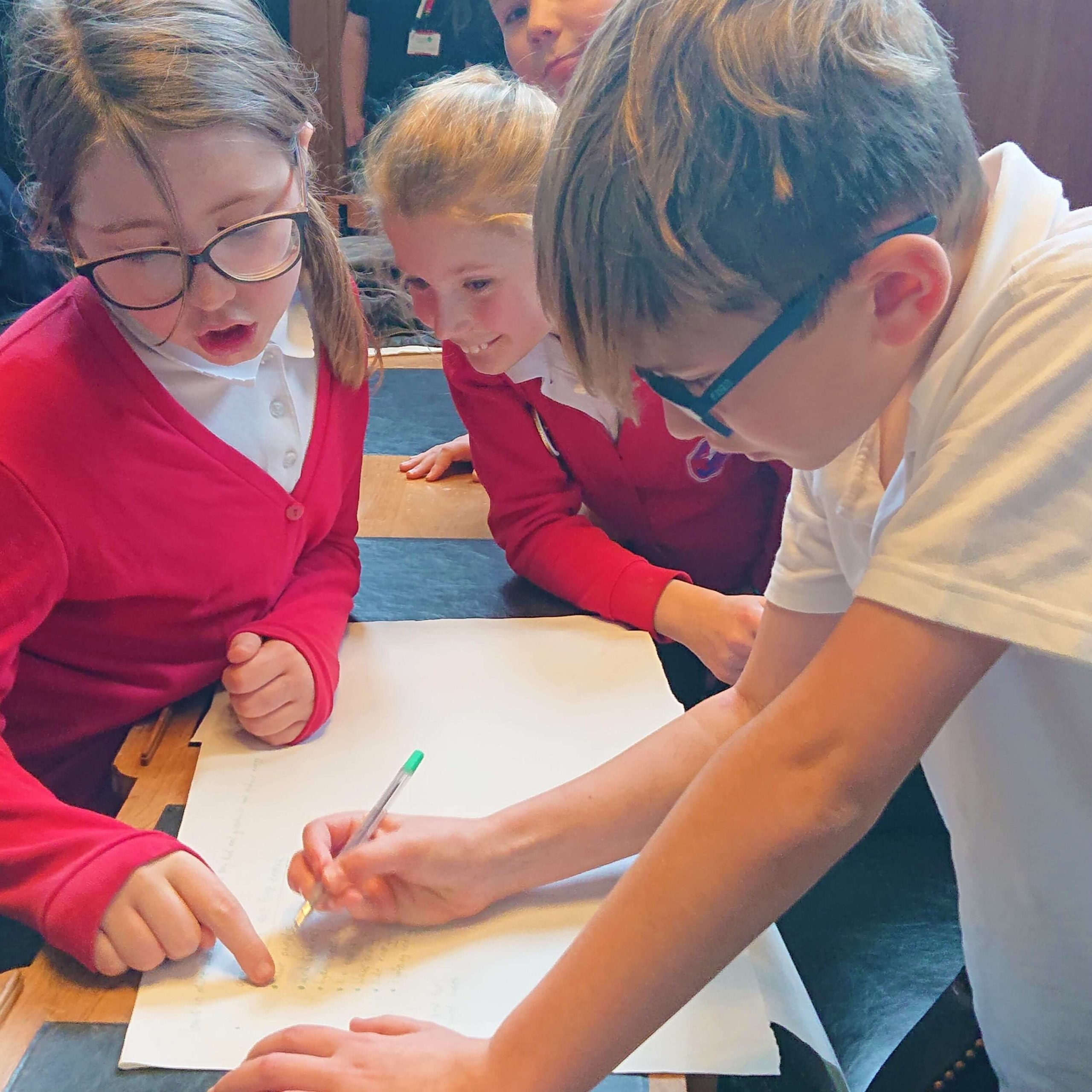 Around 100 children took part in the event at County Hall in Exeter.