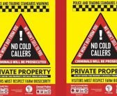 'No cold callers' signs available for farmers