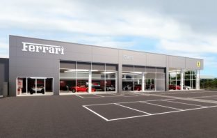 An artist's impression of the proposed new Exeter Ferrari dealership from the planning application. Image: MDG Architects