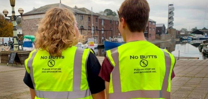 Litter-picking teen duo collect 1,600 discarded cigarette butts from part of Exeter in just 90 minutes