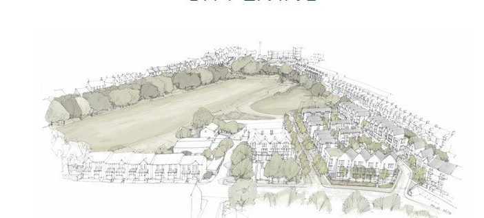 An artist's impression from the proposals for the Clifton Hill Sports Centre site. Image: Exeter City Council