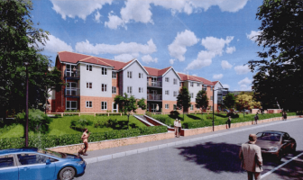 An artist's impression of the proposed 'extra care' retirement apartments proposed for a site off Salterton Road in Exmouth featured in the planning application. Image courtesy of Stride Treglown/YourLife Management Services Ltd/McCarthy & Stone