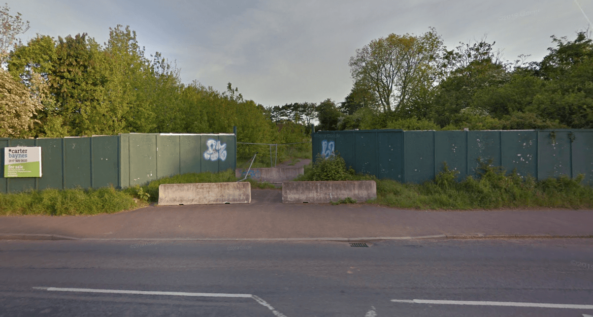 The site off Salterton Road in Exmouth. Picture: Google Maps