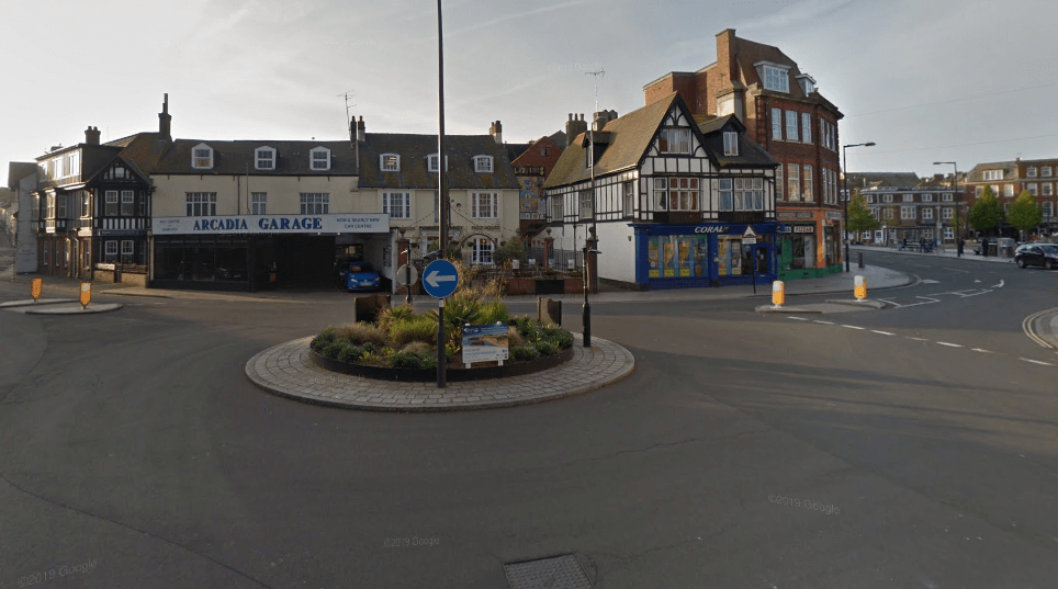 The roundabout links Imperial Road, the Parade and Rolle Street in Exmouth. Picture: Google Maps