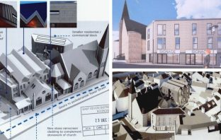 Artist's impressions of the development behind Tower Street Methodist Church in Exmouth. Images: Hansard Ltd/ Expedite