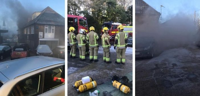VIDEO & PHOTOS: Firefighters from two counties tackle East Devon property blaze at Rousdon