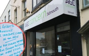 Age Concern has only opened a centre in Sidmouth High Street in April last year.