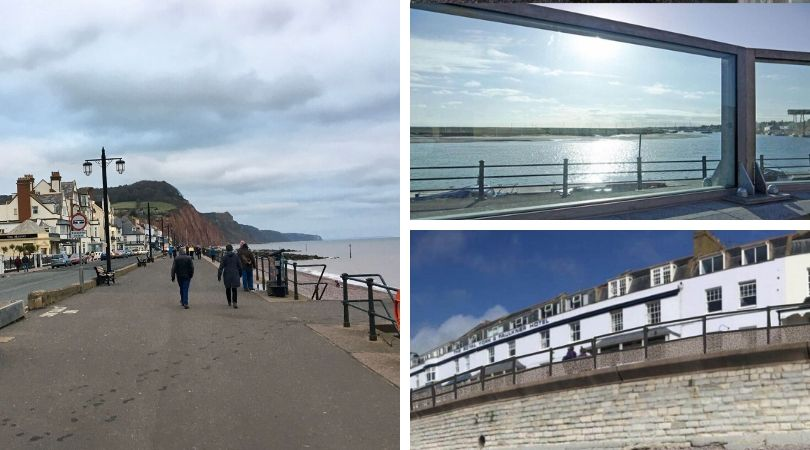 The 'splash barrier' on Sidmouth seafront could feature glass panels.