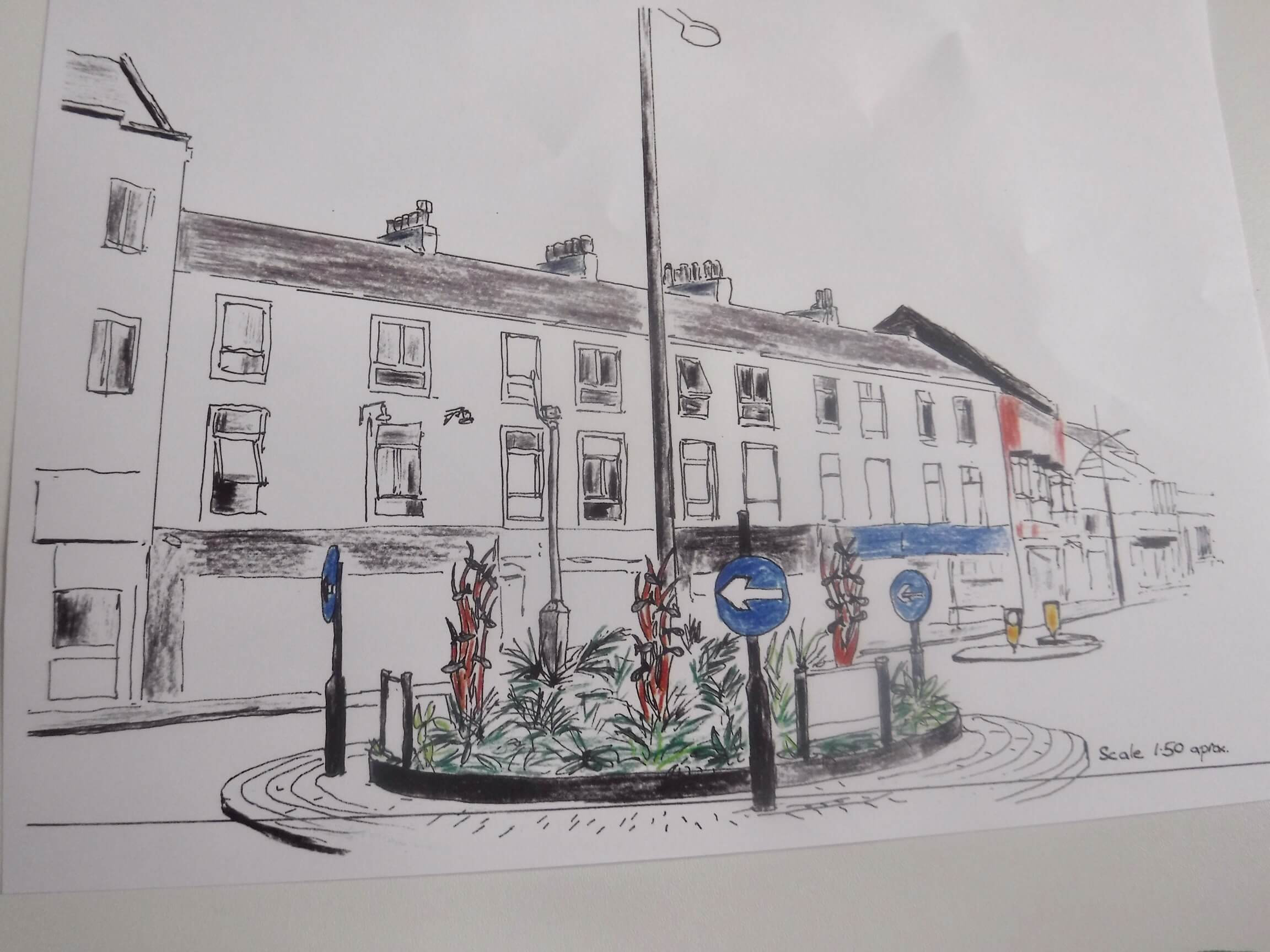 Sketch by Exmouth in Bloom horticultural advisor Graham Bell.
