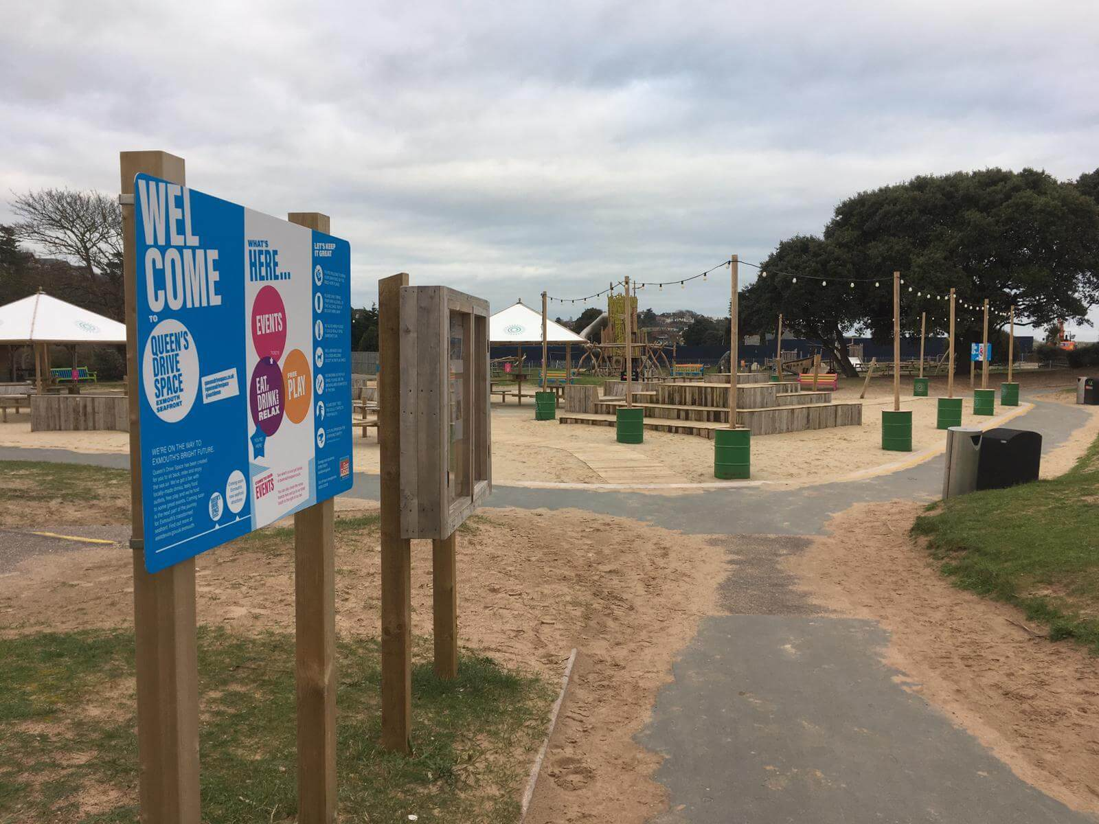 The Queen\'s Drive Space on Exmouth Seafront