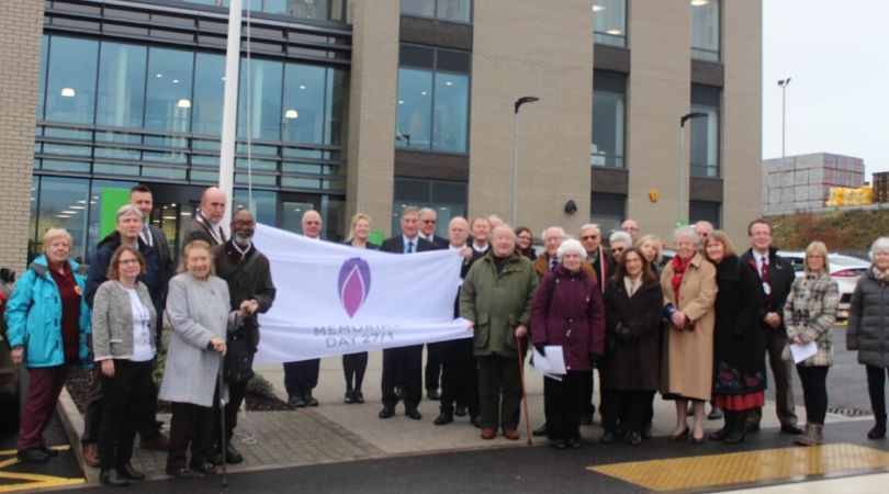 A Holocaust Memorial Day flag was raised at EDDC's HQ in Honiton.