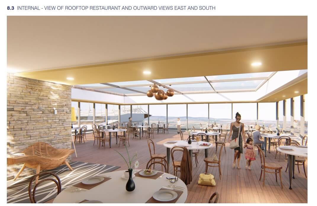 An artist's impression of the roof terrace plan for the new Sandy Park hotel in Exeter. Image: Kensington Taylor
