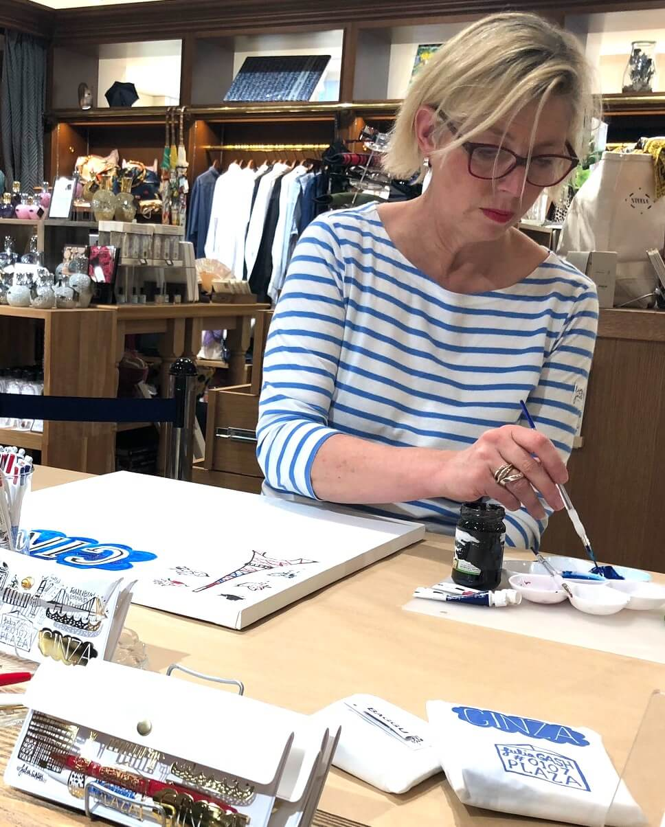 Julia Gash creating one of her unique illustrations. Picture: Julia Gash