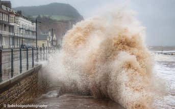 Sidmouth during Storm Ciara. Picture: Rob Chidgey Photography.