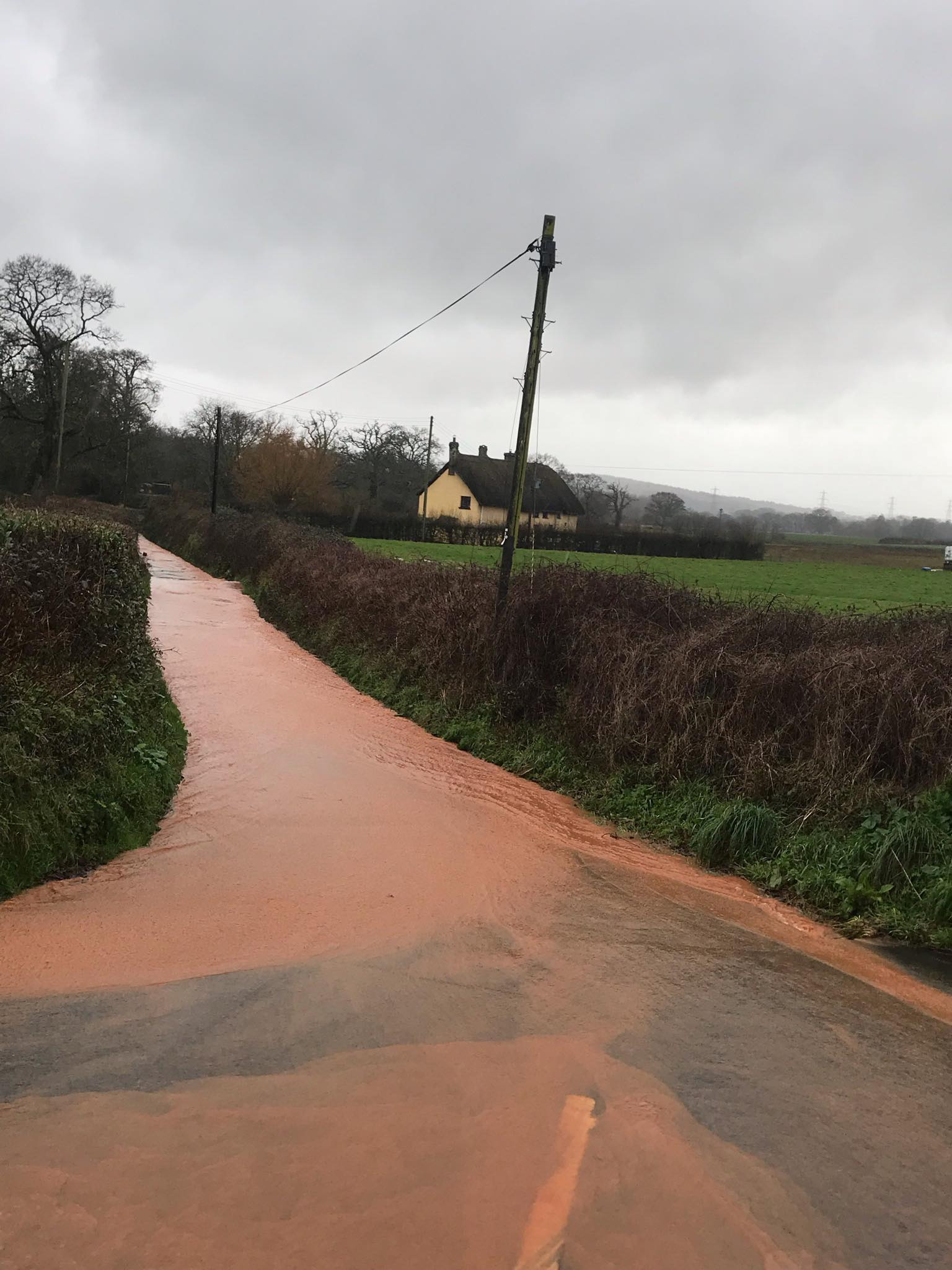 Flooding in Broadclyst. Picture: Broadclyst Parish Council
