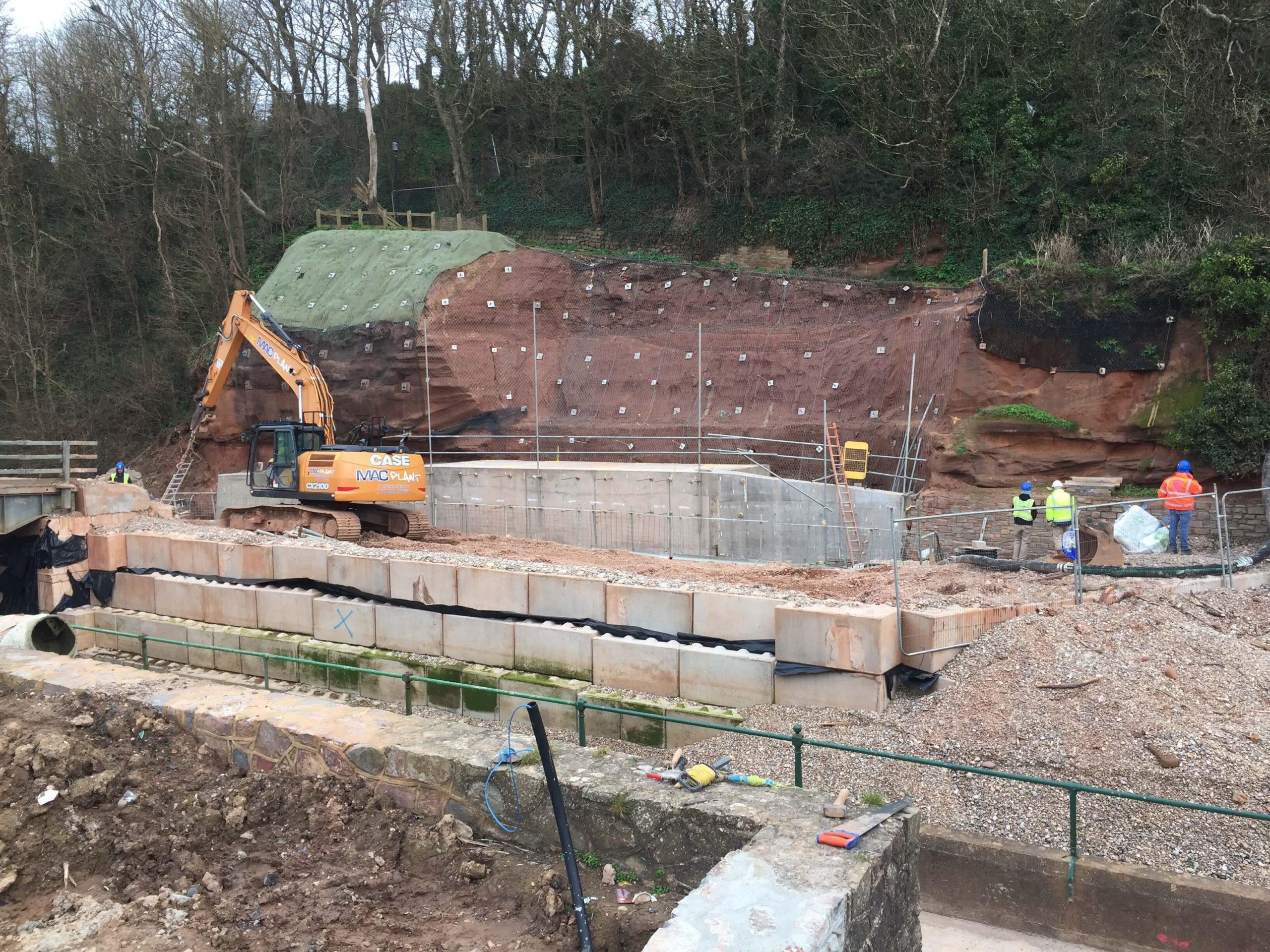 Contractors are n course to complete the Sidmouth bridge in the spring. Picture: DCC