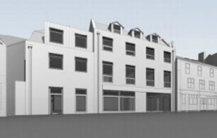 An artist's impression of the development in Blackboy Road, Exeter.