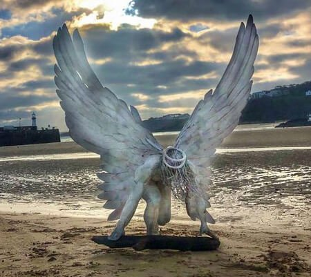 Brendan Rawlings's 'Your Guardian Angel' will be exhibited in Exmouth.