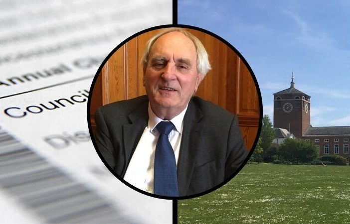 Devon County Council has raised residents' council tax bills by £1 a week. Pictured inset is DCC leader John Hart.