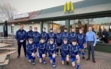 Brixington Blues youngsters sport their new kits courtesy of McDonald's in Exmouth.