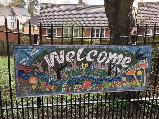 The new mosaic at The Glen in Honiton.