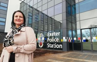 Police and Crime Commissioner for Devon and Cornwall Alison Hernandez at the new Exeter Police Station. Picture: OPCC