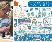 Artist Julia creates Exmouth design to help put Pete's Dragons charity shop on the map