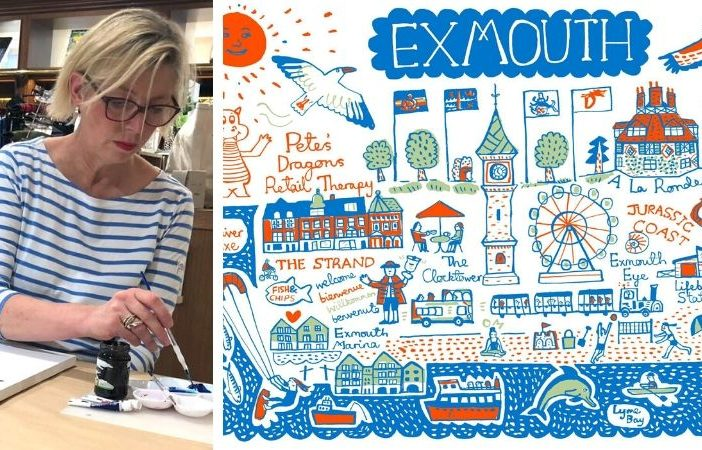 Artist Julia Gash has created a special illustration of Exmouth to boost suicide bereavement charity Pete's Dragons. Pictures: Julia Gash