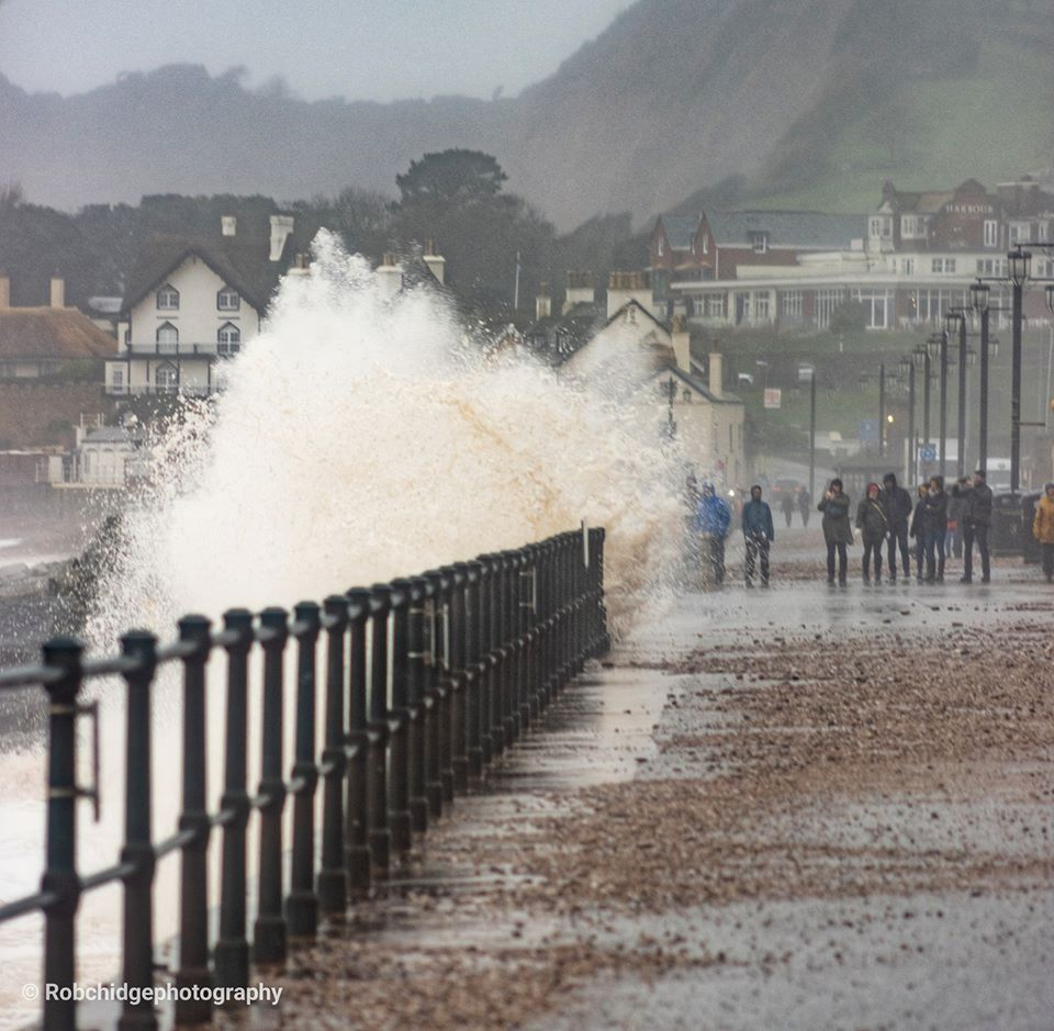 Storm Dennis batters Sidmouth seafront. Picture: Rob Chidgey Photography