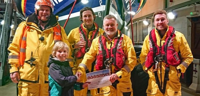 Aubrey's Axminster swim challenge raises £300 for the RNLI