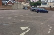 Rolle Mews car park in Fore Street, Budleigh Salterton.