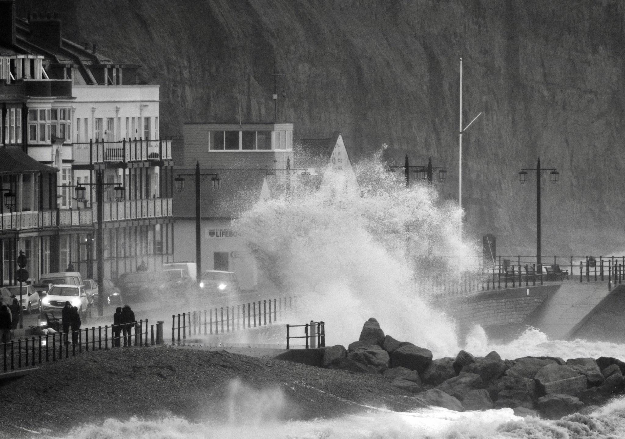 Huge waves crash into Sidmouth seafront. Picture: Simon Horn LRPS